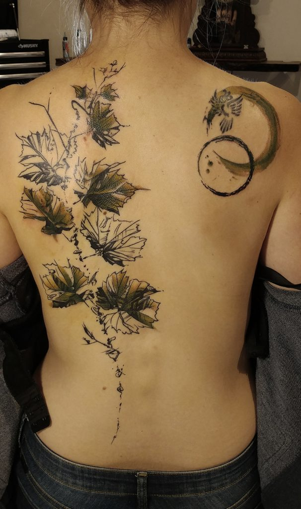 vigne - vine tattoo