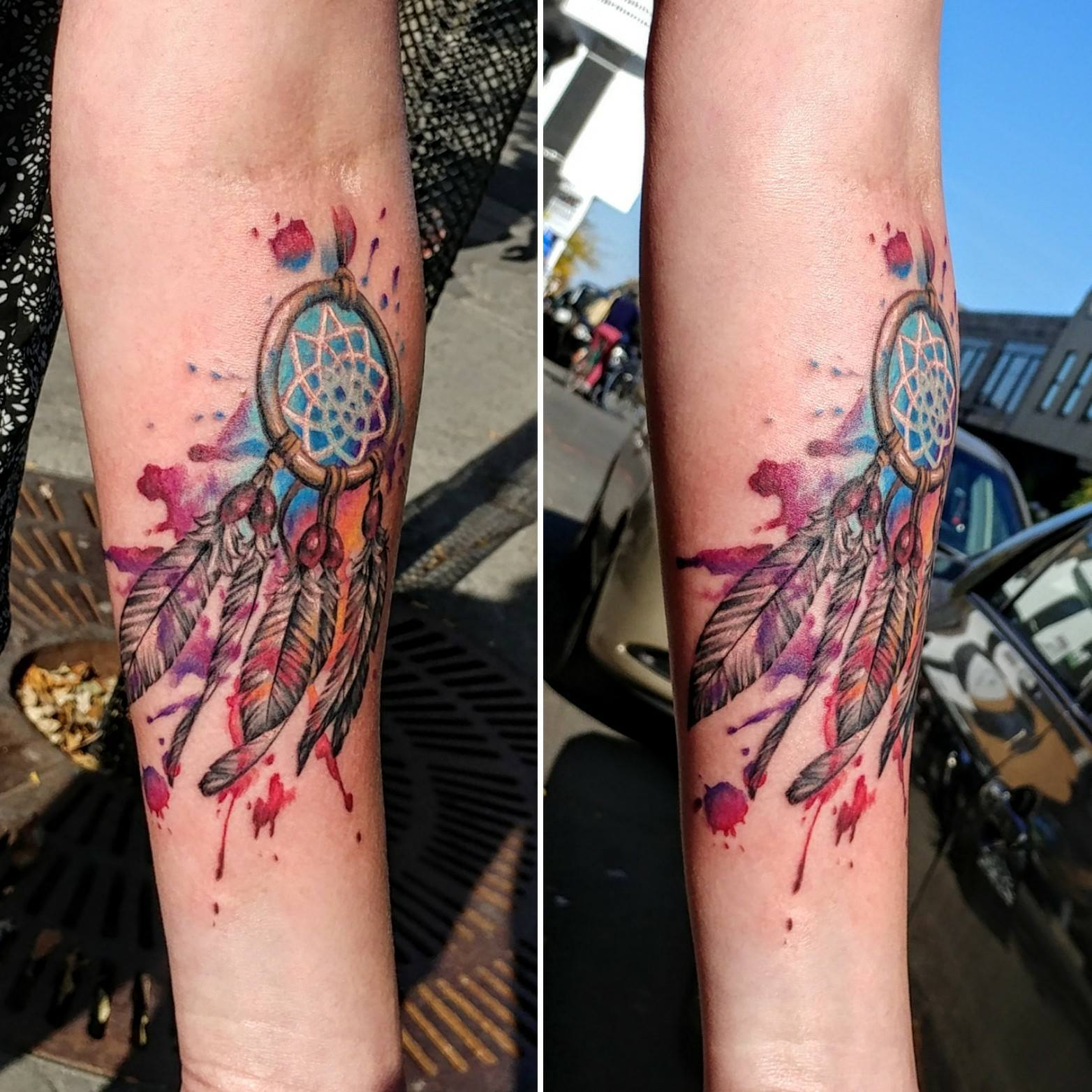 capteur de rêve - dream catcher tattoo